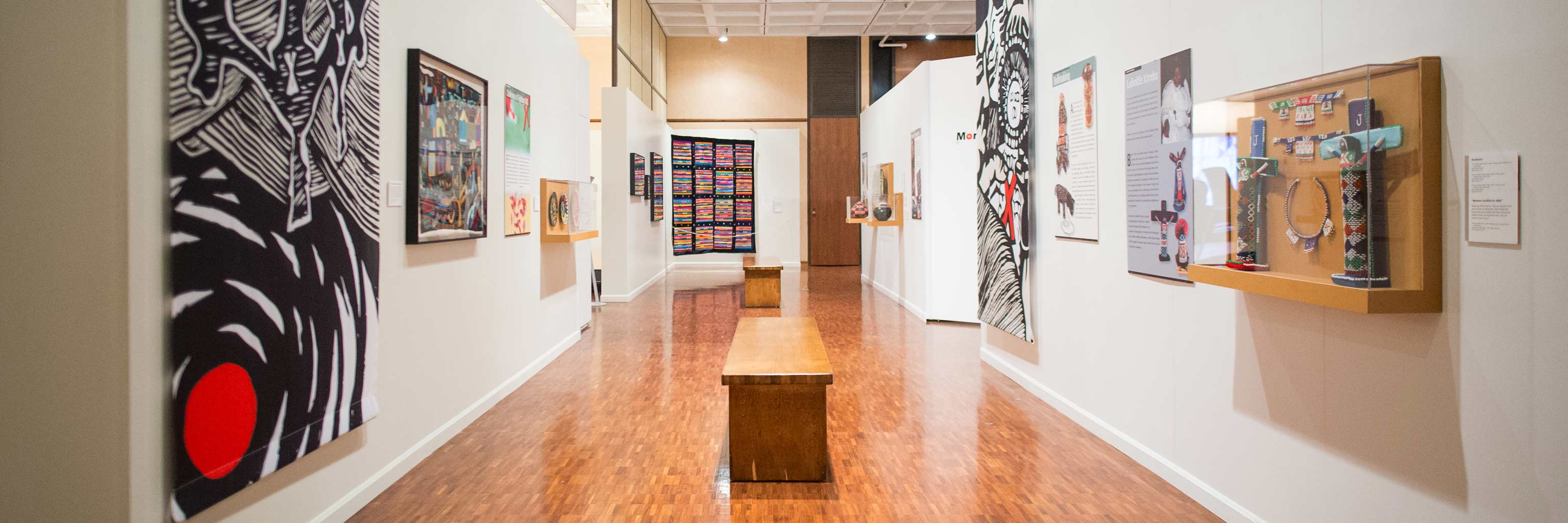 Image of a gallery on the Indiana University Bloomington campus.