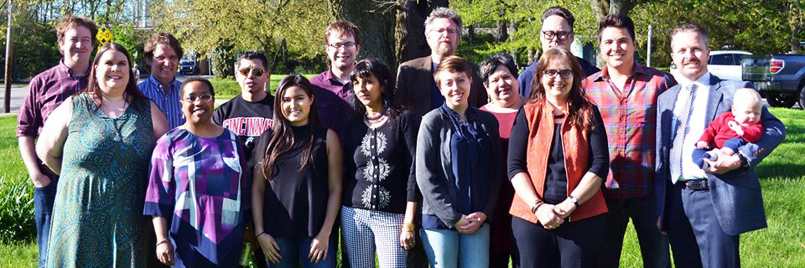 Image of the Department of Folklore and Ethnomusicology faculty and staff.
